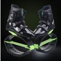 Kangoo Jumps shoes XR3 New anti-gravity running boots fitness bounce sport rebound boots Black-Green