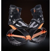 New and Improved Kangoo Jumps Shoes Rebounce Shoes Black-Orange