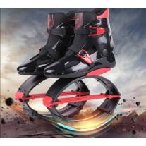 Adults Sneakers Jumping Boots kangoo jumps Shoes Rebound Shoes Black-Red