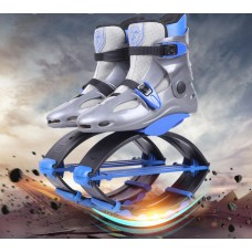 Kangoo Jumps Shoes Outdoor Fitness Bounce Toning Shoes Gray-blue
