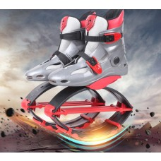 Kangoo Jumps Shoes Fitness Slimming Body Building Jumping Shoes Gray-red