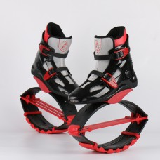 Kangoo Jumps Shoes Professional Breathable Sports Jumps Shoes Black-Red-Grey