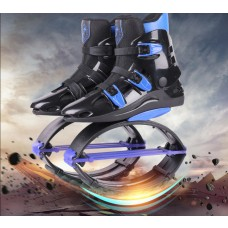 Kangoo Jumps Shoes KJ XR3 Toning Sneakers Bounce Sports Shoes Jumps Boots Black- Blue