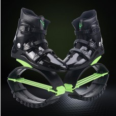 Kangoo Jumps shoes XR3 New anti-gravity running boots fitness bounce sport rebound boots Black-Green
