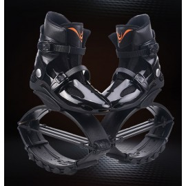 Kangoo Jumps Bounce Shoes Power Anti-Gravity Running Boots Gym Shoes Black / Orange Logo