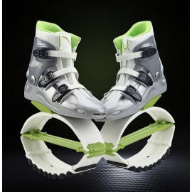 Kangoo Jumps shoes KJ XR3 New Fashion Cool Fitness Exercise Jump Sport Bounce Shoes Silver-Green